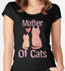 Mother of Cats 2 Women's Fitted Scoop T-Shirt