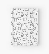 Funny white cats. Hardcover Journal
