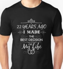 Funny 22nd Wedding Anniversary Shirts For Couples. Funny Wedding Anniversary Gifts Unisex T-Shirt
