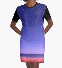 Star trails on Kimberley coast abstract Graphic T-Shirt Dress