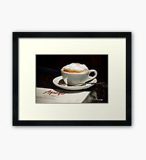 Latte and Lunch Framed Print