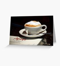 Latte and Lunch Greeting Card
