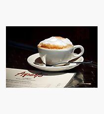 Latte and Lunch Photographic Print