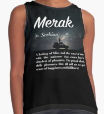 Merak (untranslatable word) feeling of bliss, oneness with universe from the simplest of pleasures Contrast Tank