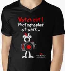Red - The New Guy - Watch out ! Photographer at work .. Men's V-Neck T-Shirt