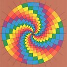 2302 - Coloured Spiral in nearly Perfect Circle before Brown by tigerthilo