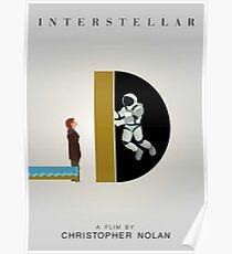Interstellar - Minimalist Movie Poster Poster