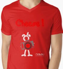 Red - The New Guy - Cheese ! Mens V-Neck T-Shirt