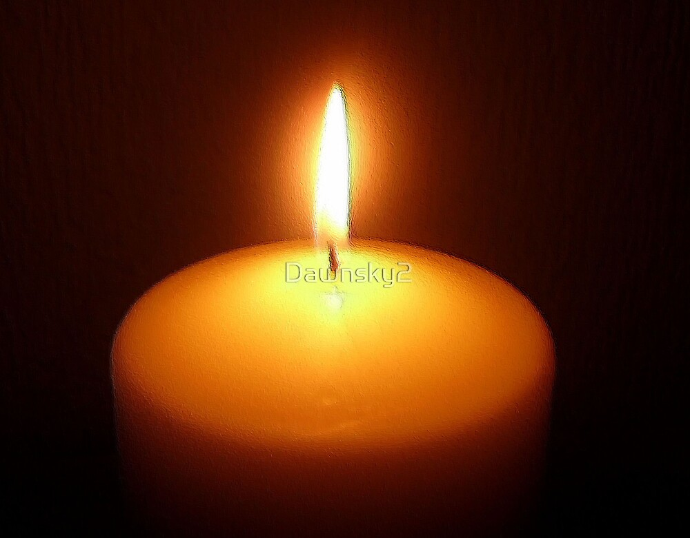 Peace candle by Dawnsky2