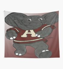 Alabama Roll Tide Elephant Mascot Wall Tapestry