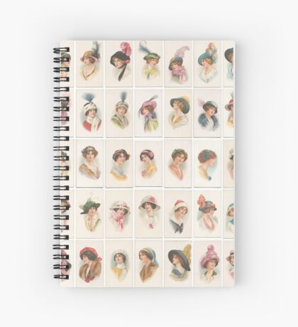 1910 beauties in picture hats set of 45 Spiral Notebook