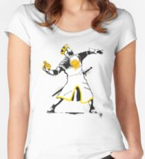 Banksy Python 1-2-5 Women's Fitted Scoop T-Shirt