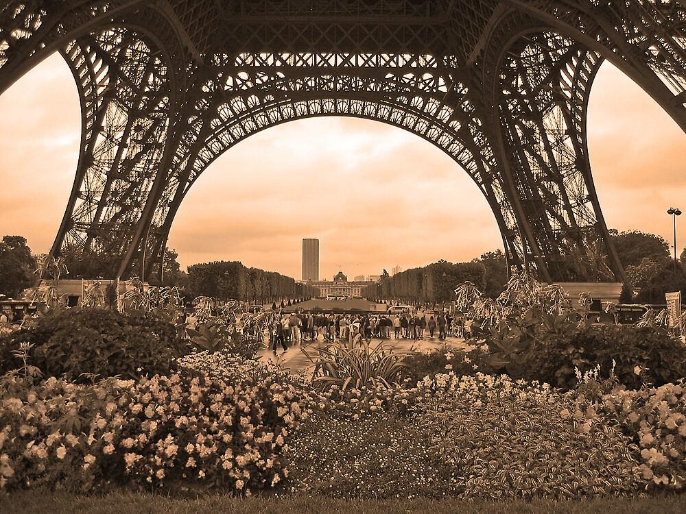 Eiffel Tower in Sepia by Josette21