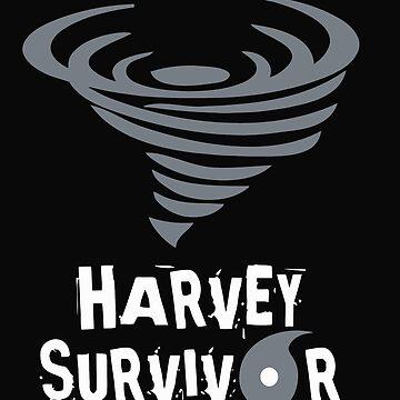 Hurricane Harvey Survivor  with Weather Symbols by t058840758