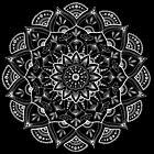 Friedliches Mandala - weißer Druck von georgiamason