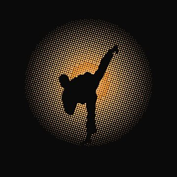 Kickboxing Design - Silhouette  by kudostees