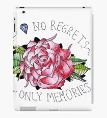 No regrets, only memories. iPad Case/Skin