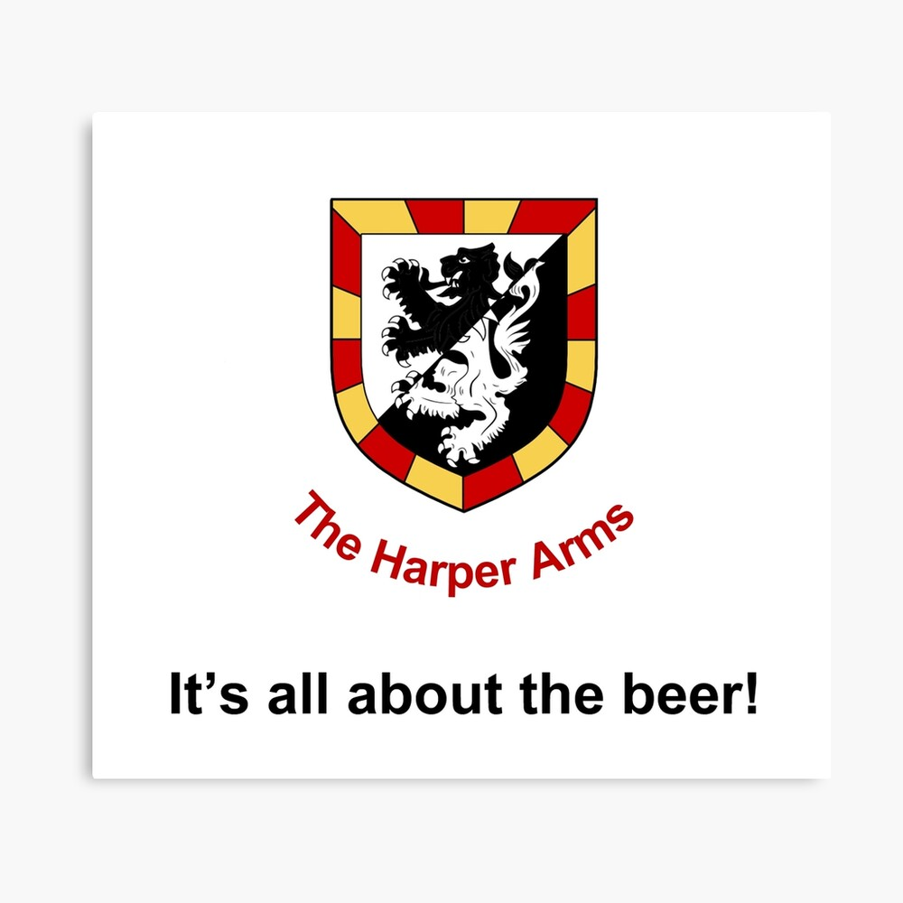 Harper Arms All About the Beer Canvas Print