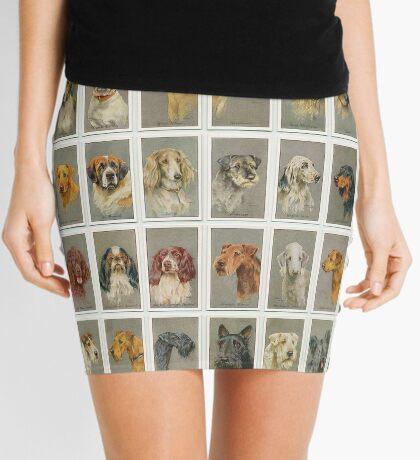 50 illustrations of dogs' heads Mini Skirt