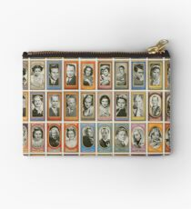 50 male and female film stars from the 1940s Zipper Pouch