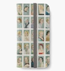 Female film stars from the 1930s. Set of 50 iPhone Wallet/Case/Skin