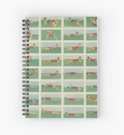 Swimming instructions set of 48 Spiral Notebook