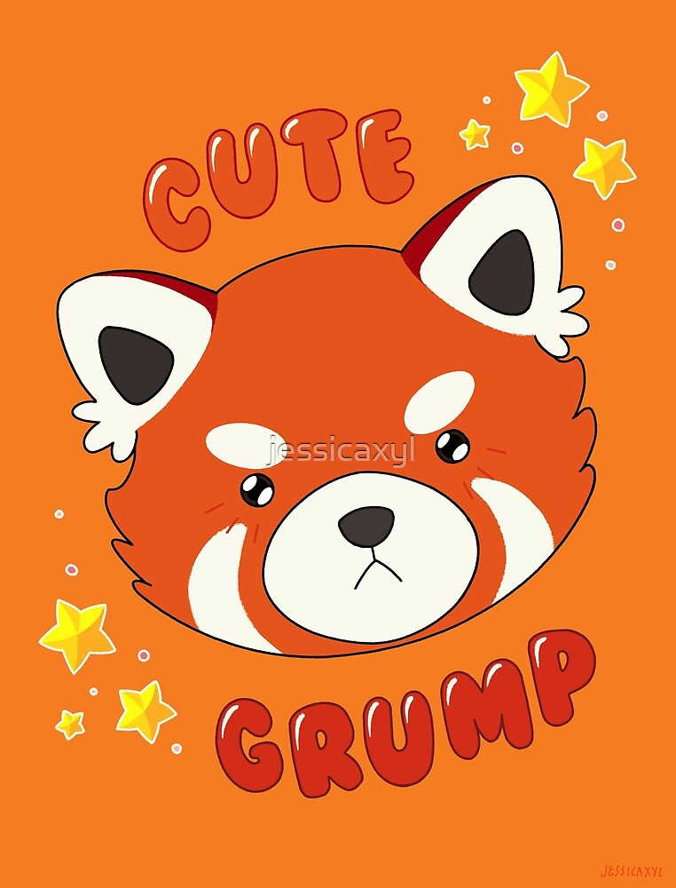 Cute Grump (Red Panda) by jessicaxyl
