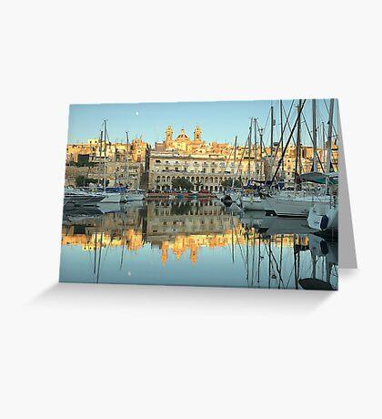 Early Morning At The Marina Greeting Card
