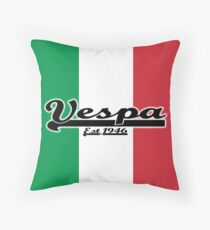 Team Vespa - Italian Flag Throw Pillow