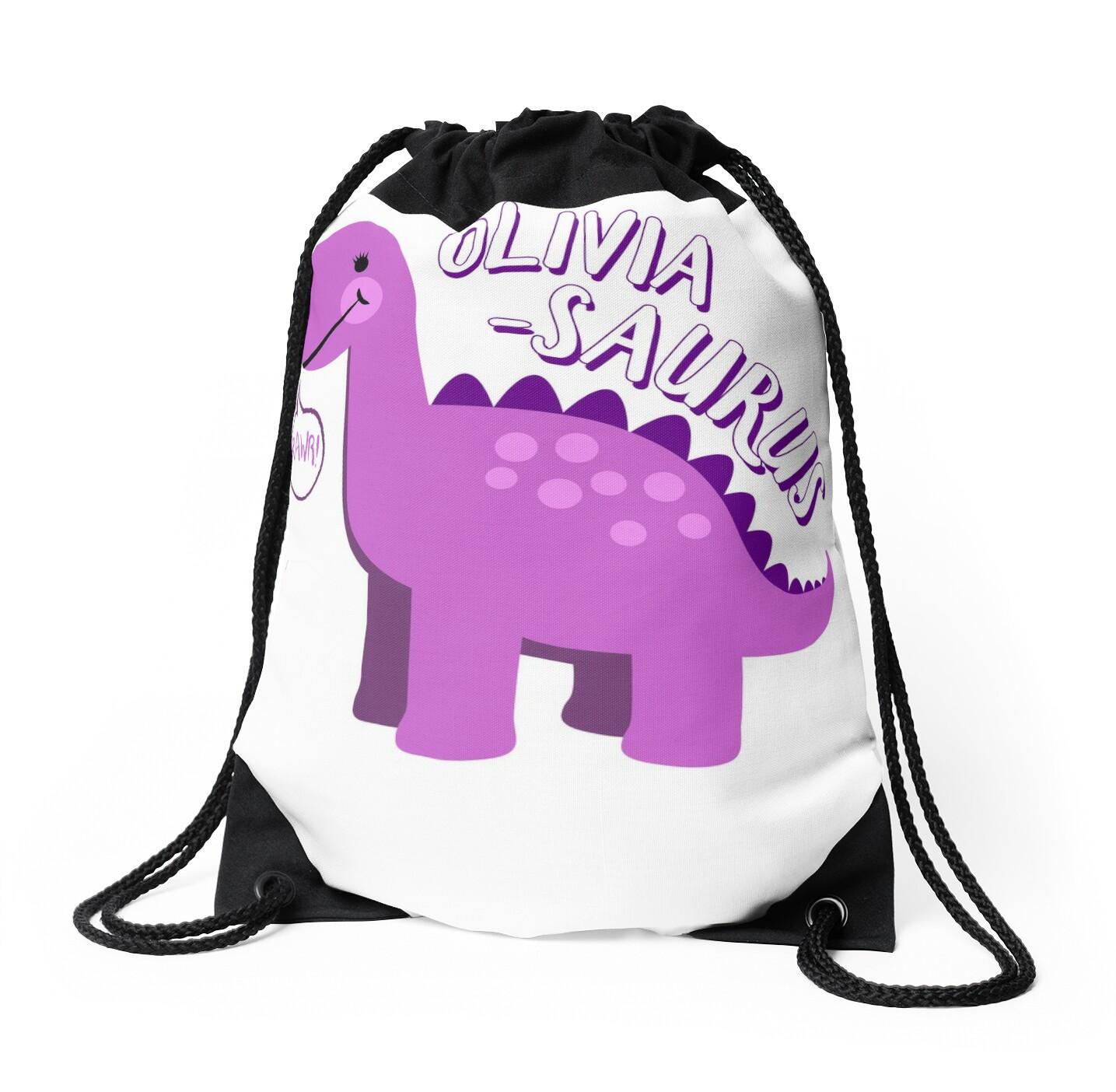 Olivia Saurus Dinosaur Name - Fun Cute Personalized
