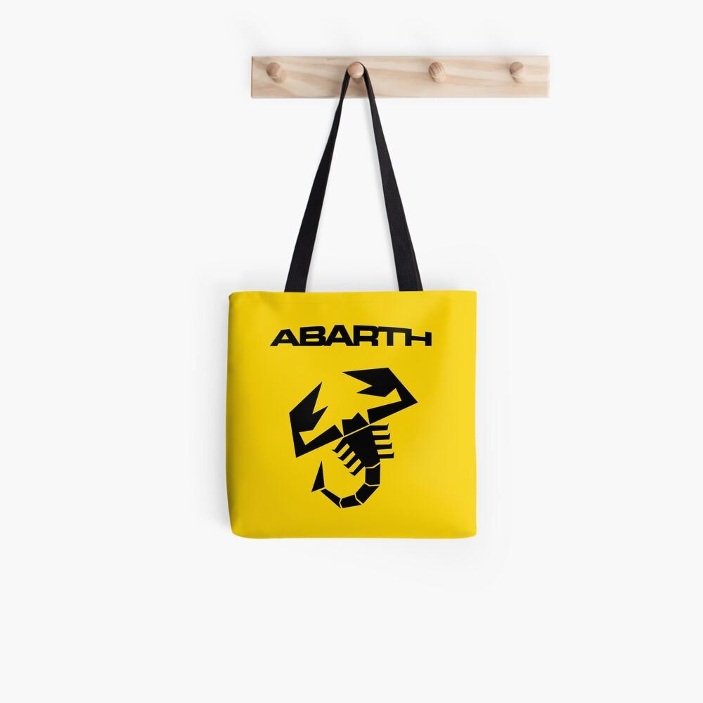 Abarth & scorpion (black) Tote Bag