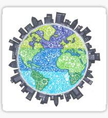 Zentangle Earth Sticker