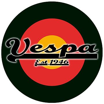 Team Vespa Logo on German/Belgium Flag MOD Target by ScooterStreet