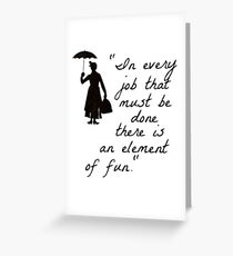 Mary Poppins Practicall Perfect 4 Greeting Card