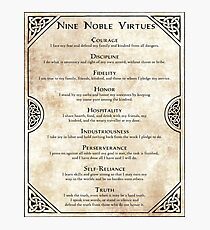 Nine Noble Virtues Photographic Print
