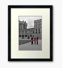 Changing of the Guard at Windsor Castle Framed Print