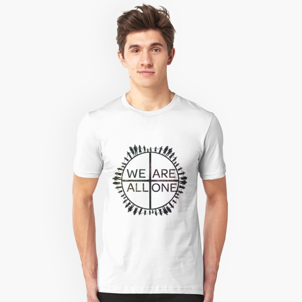 We Are All One Slim Fit T-Shirt
