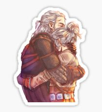 Father & Daughter Sticker