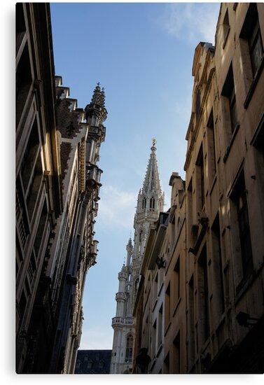 Catching a Glimpse of Grand Place, Brussels, Belgium  by Georgia Mizuleva