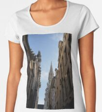 Catching a Glimpse of Grand Place, Brussels, Belgium  Women's Premium T-Shirt
