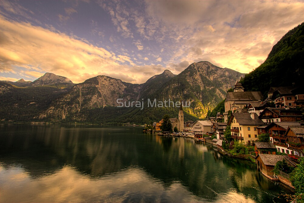 Hallstatt and Christuskirche, Austria by Suraj Mathew