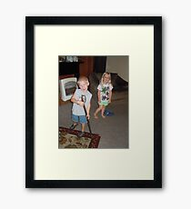 THE LITTLE BLOND BOMB SHELL, WITH TRESSEL Framed Print