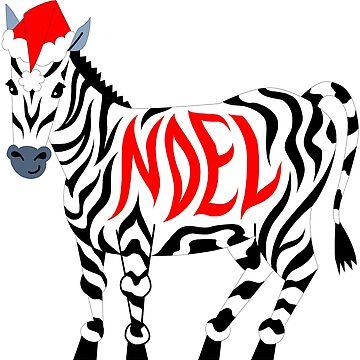 Christmas Noel Zebra by BlackStarGirl