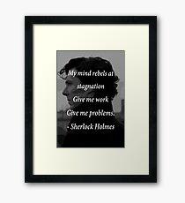 Sherlock Benedict Cumberbatch Quote Framed Print