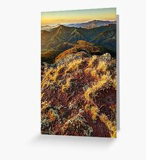 Upper Jamieson and Howqua valleys Greeting Card