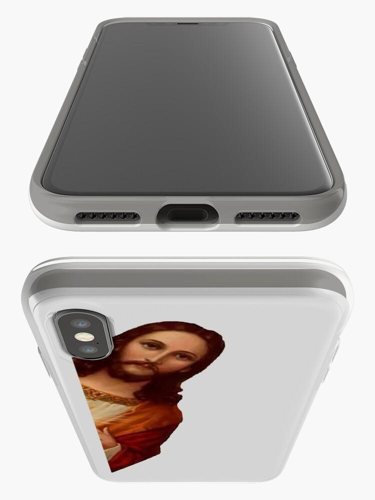 Vista alternativa de Vinilos y fundas para iPhone Jesús está mirando Meme