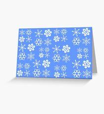 Snowflake Pattern Light Blue Greeting Card