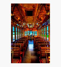 Trolley Car 432B Interior in HDR Photographic Print