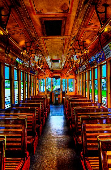 Trolley Car 432B Interior in HDR by MKWhite