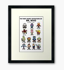 The Timey Wimey Adventures of the Doctor Framed Print